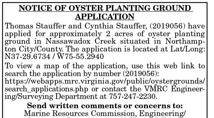 Oyster Grounds App